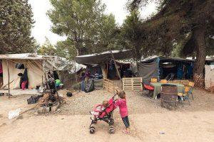 Maidan Tent, un'immagine del campo profughi di Ritsona in Grecia (foto di Delfino Sisto Lignani)