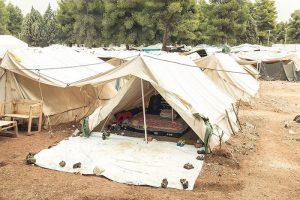 Maiden Tent, un'immagine del campo di Ritsona in Grecia, foto di Delfino Sisto Legnani